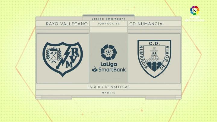 LaLiga SmartBank (J39): Resumen y goles del Rayo Vallecano 3-2 Numancia