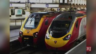 Virgin Trains looks to get passengers to Allegiant Stadium – Video