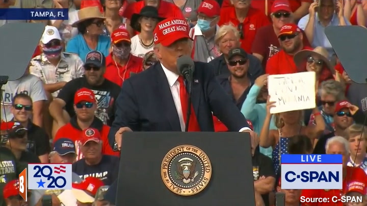 Kayleigh McEnany Stumps for Donald Trump with Her Husband, Tampa Bay Pitcher Sean Gilmartin