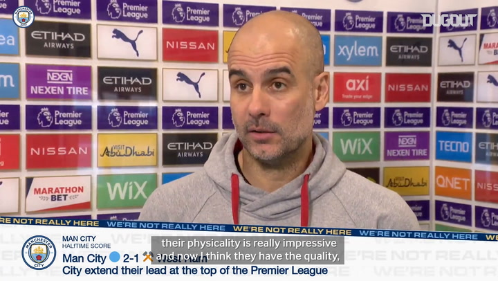 Pep assesses West Ham win