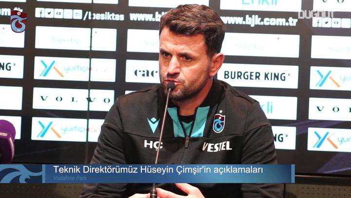 Trabzonspor Teknik Direktörü Hüseyin Cimşir: Bizim Bir Hayalimiz Var!