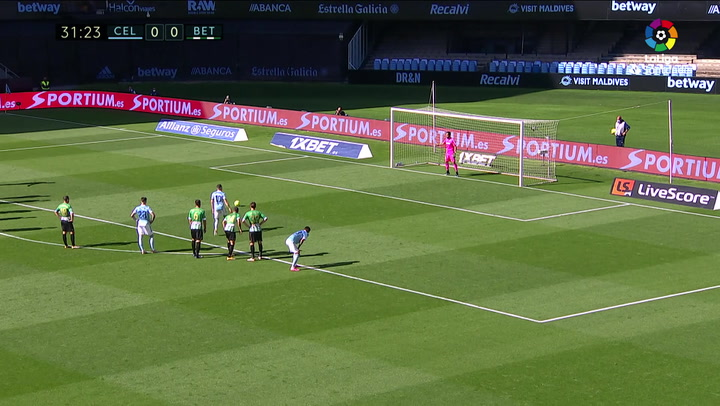 Gol de Iago Aspas (p.) (1-0) en el Celta 2-3 Betis