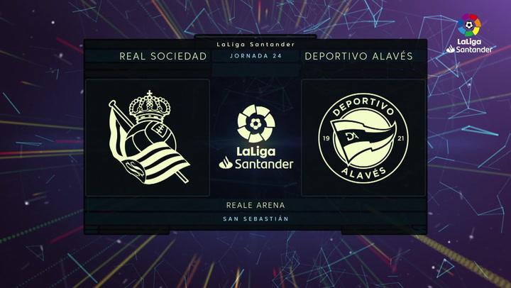 LaLiga (J24): Resumen y goles del Real Sociedad 4-0 Alavés