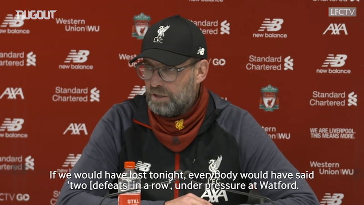 Klopp talks pressure as Liverpool sit 12 points from historic title