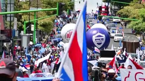 Protestas por medidas económicas en Costa Rica, entre negociaciones con el FMI