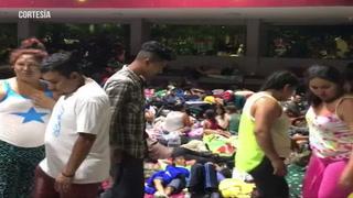 Caravana de migrantes hondureños duerme en las calles del Parque de Tapachula