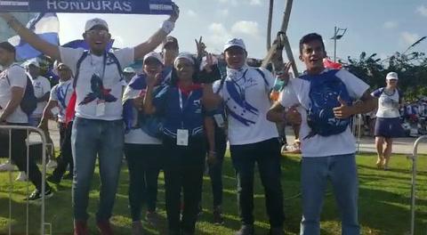 Hondureños en la Jornada Mundial de la Juventud en Panamá