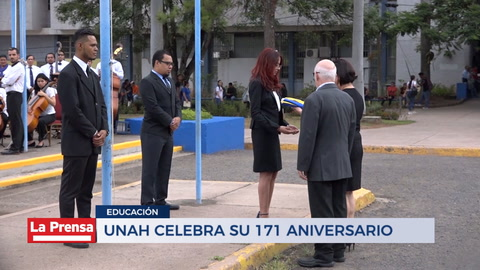 UNAH celebra su 171 aniversario