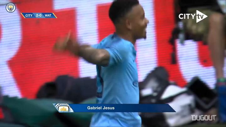Gabriel Jesus' FA Cup final brace vs Watford