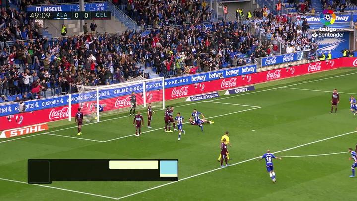Gol de Magallán (1-0) en el Alavés 2-0 Celta