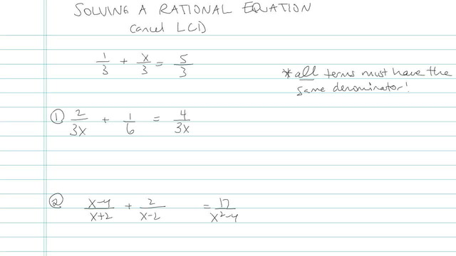Solving a Rational Equation - Problem 4