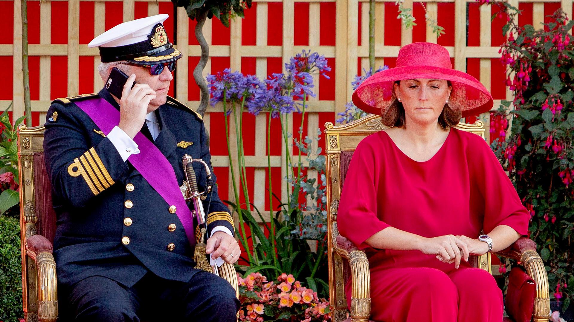 La polémica actitud de Laurent de Bélgica durante el desfile nacional