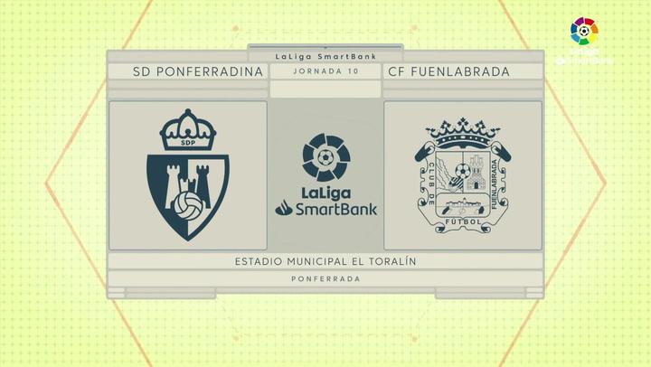 LaLiga SmartBank (J10): Resumen de la Ponferradina 0-0 Fuenlabrada