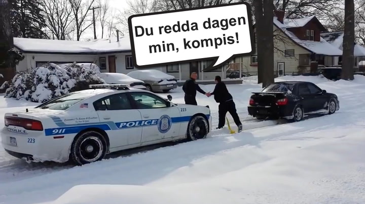 Her blir han politiets helt – og stjerne i ny reklamefilm