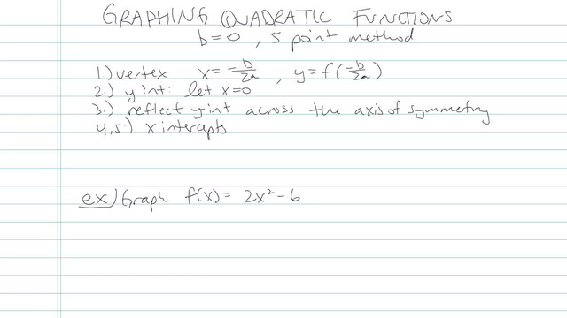 Graphing Quadratic Equations - Problem 9