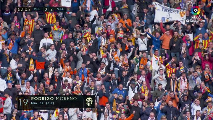 LaLiga: Real Valladolid - Valencia. Gol de Rodrigo Moreno en el minuto 52 (0-2)
