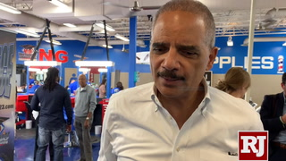 Eric Holder at Masterpiece Barber College