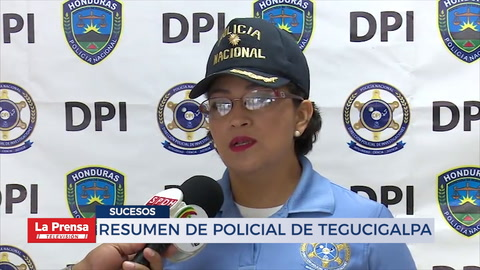 Resumen policial de Tegucigalpa