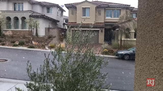 Snowfall in Summerlin – VIDEO