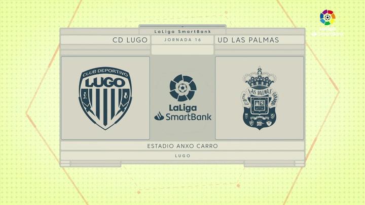 LaLiga SmartBank (J16): Resumen y goles del Lugo 1-1 Las Palmas
