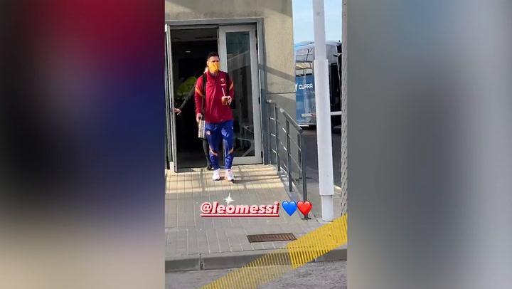 El Barça ya vuela rumbo a Madrid