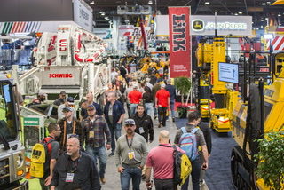 World of Concrete attendees on the border wall