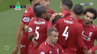 Liverpool golea y sigue líder en la Premier League