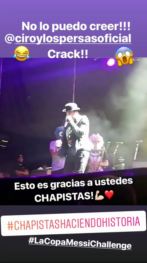 Ciro cantó en Rosario el hit del momento Traeme la Copa Messi