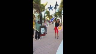Shoe Throwing Protest in Fort Lauderdale
