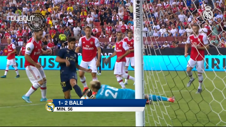 Gareth Bale's first goal of 2019-20