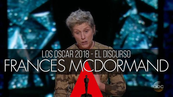 Las palabras de Frances McDormand  ponen en pie a las actrices