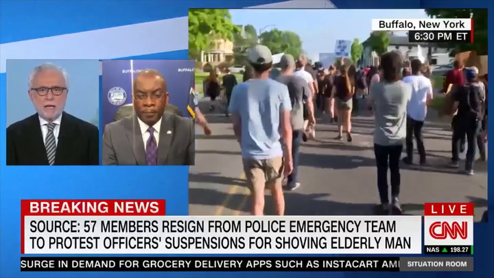 Buffalo Mayor: Inaccurate Police Statement on Shove Was 'An Attempt to Report out Quickly' in 'Volatile Situation'