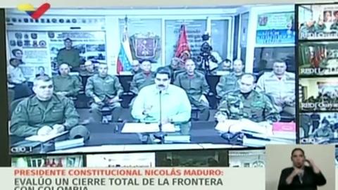Guaidó viaja a frontera con Colombia, Maduro cierra la de Brasil