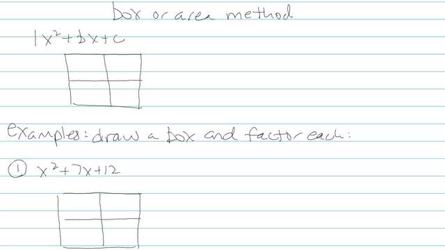 Factoring Trinomials, a = 1 - Problem 9