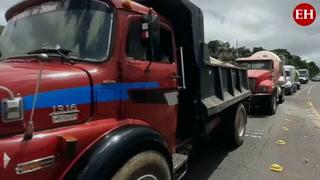 Tráfico y descontrol en la capital de Honduras por paro de transporte