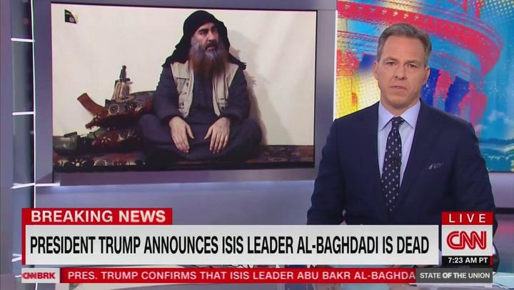 Image result for baghdadi dead headline cnn