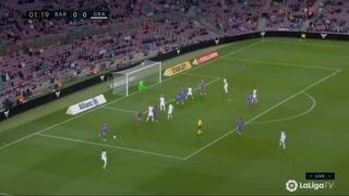 Apenas a los dos minutos: El gol de Granada que abrió el marcador ante Barcelona