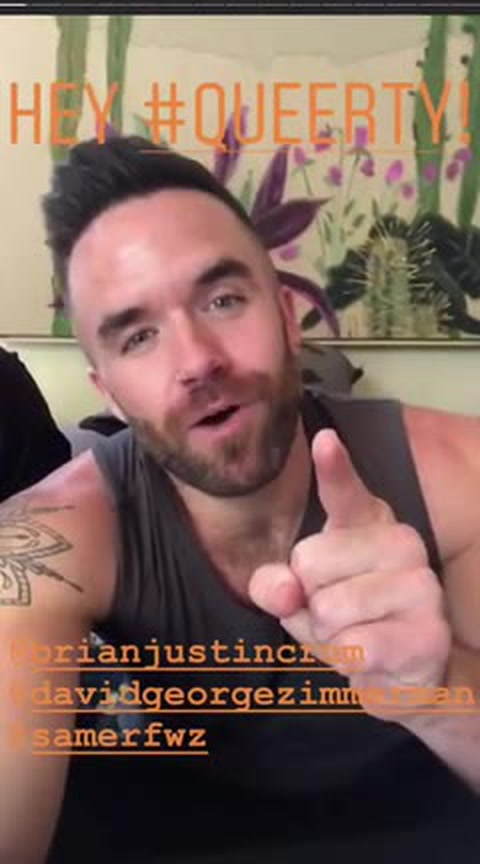 Brian Justin Crum & Samer Fawaz behind the scenes with David Zimmerman -- Queerty Story