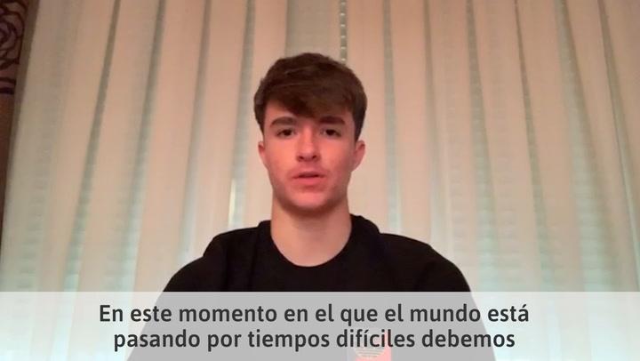 Bruno Iglesias, juvenil del Real Madrid, el miembro más joven de Common Goal