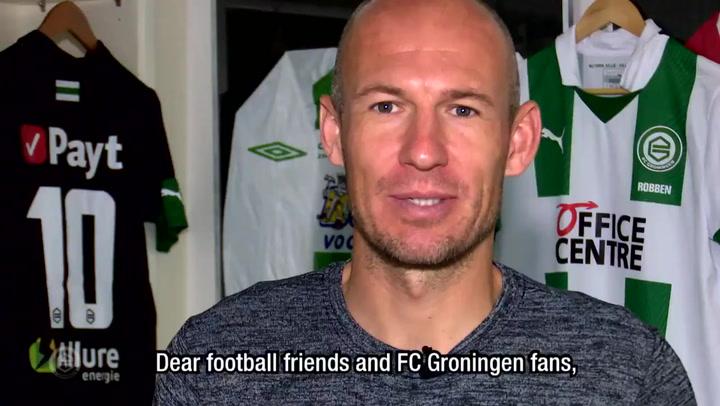 Robben prepara su vuelta al fútbol con el Groningen