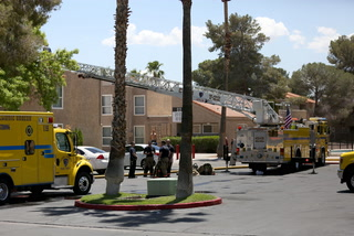 17 units respond to two-alarm fire in Las Vegas