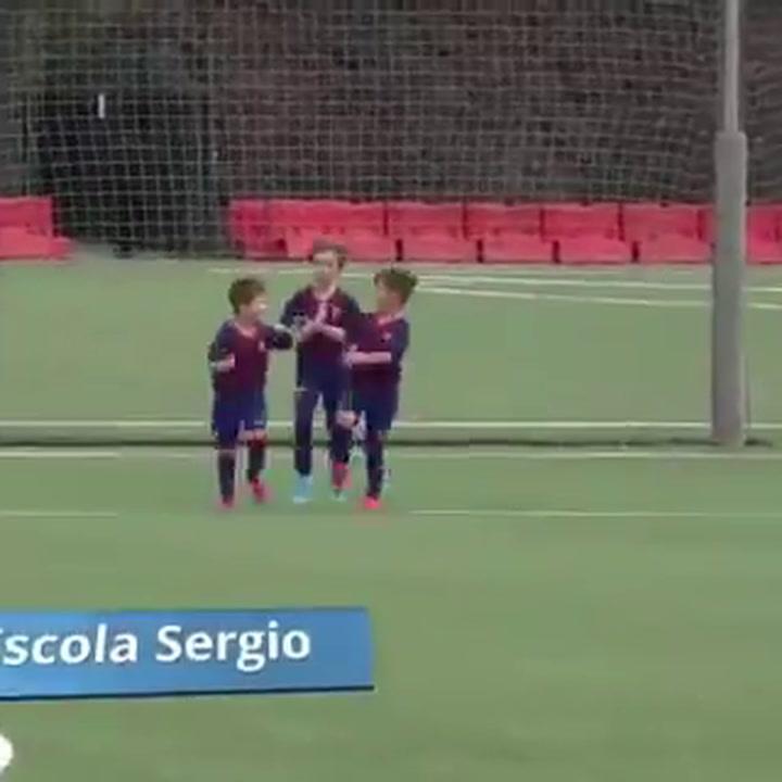 Thiago Messi ya empieza a marcar goles con el Barça