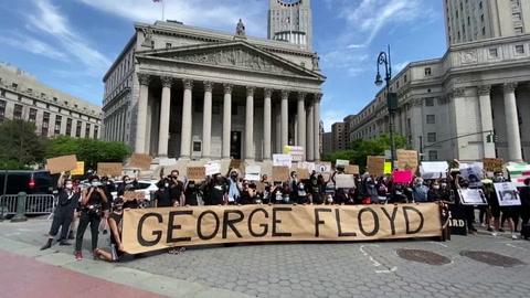 Disturbios y arrestos en protesta en Nueva York por la muerte del afroamericano Floyd