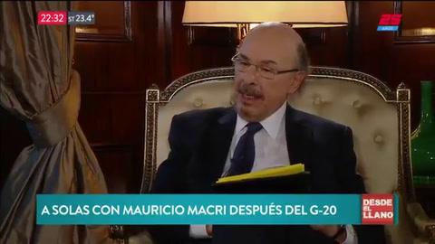 Macri pronosticó un leve superávit y una baja de la inflación