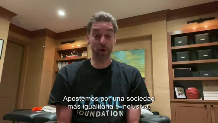 Pau Gasol apuesta por una sociedad más igualitaria e inclusiva