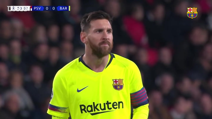 Match Highlights: Magical Messi helps Barça To PSV Win