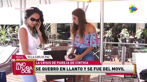 Cinthia Fernández se angustió y abandonó el móvil de Involucrados