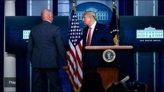 Donald Trump abandona rueda de prensa por disparos en las afueras de la Casa Blanca