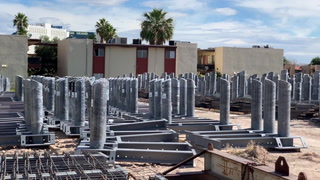 Bollard Construction on Las Vegas Blvd. – VIDEO