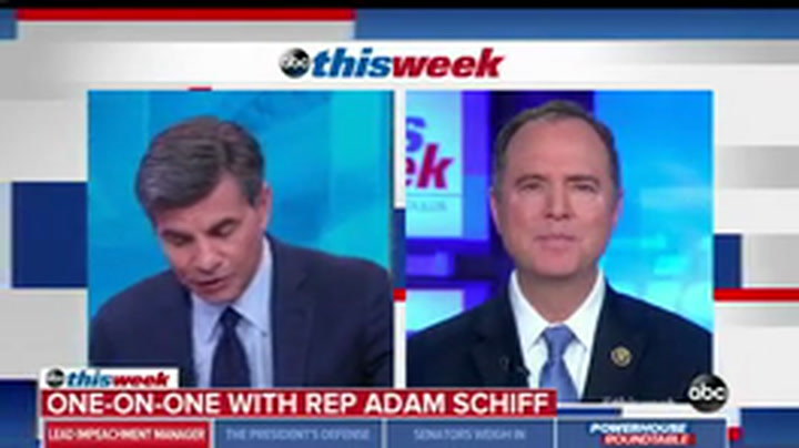 Schiff: If GOP Senators Don't Give the Country a Fair Trial They 'Will Be Held Accountable'
